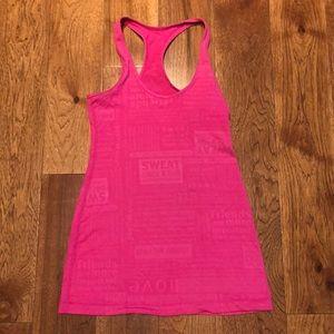 Lululemon RARE Cool Racer Back Pink print 4